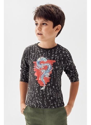 Nebbati Erkek Çocuk Haki T-Shirt 20Pfwnb3506 Haki